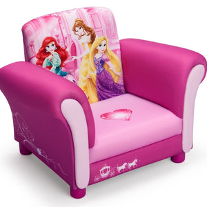 Delta Children Princess Upholstered Chair, Angle View a1a