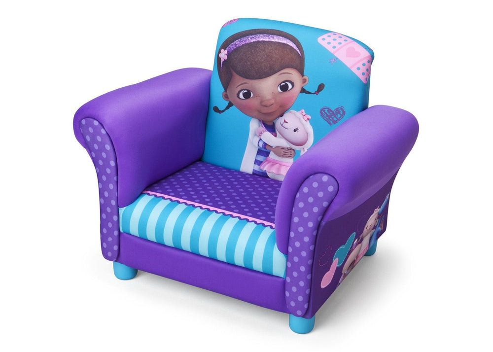 Delta Children Doc McStuffins Upholstered Chair Left Side View a2a