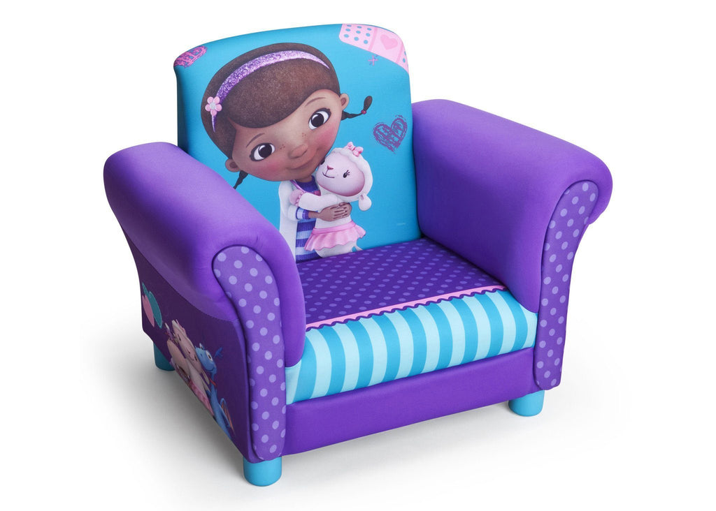 Delta Children Doc McStuffins Upholstered Chair Right Side View a1a