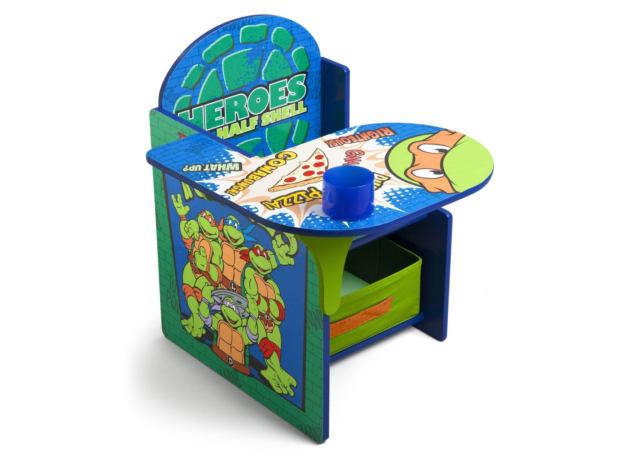 Delta Children Ninja Turtles Chair Desk with Storage Bin Right Side View a1a Ninja Turtles (1117)