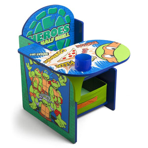 Delta Children Ninja Turtles Chair Desk with Storage Bin Right Side View a1a