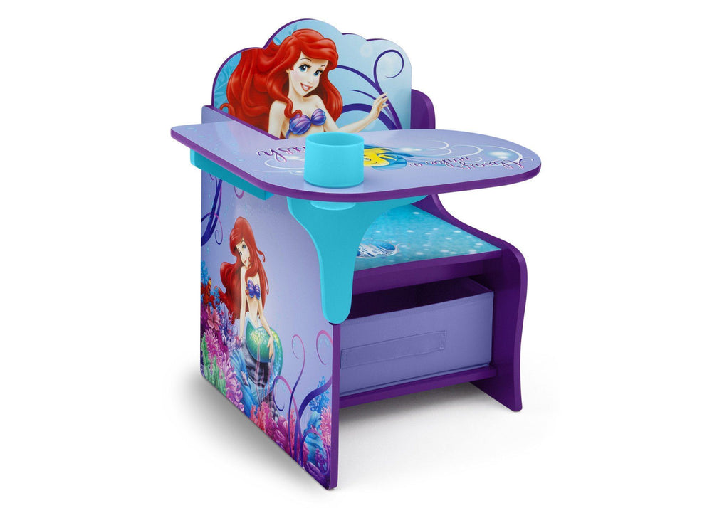 Delta Children Little Mermaid Chair Desk with Storage Bin Right Side View a1a