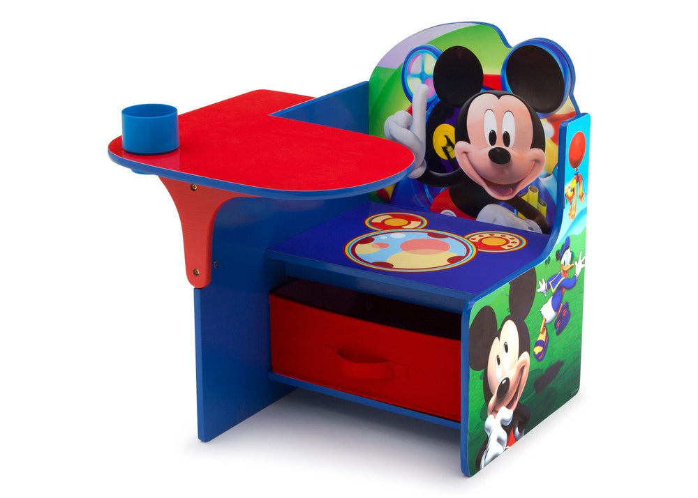 Delta Children Mickey Mouse Chair Desk with Storage Bin, Left View a2a