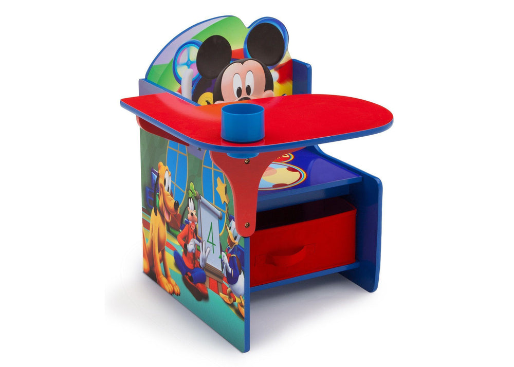 Delta Children Mickey Mouse Chair Desk with Storage Bin, Right View a1a