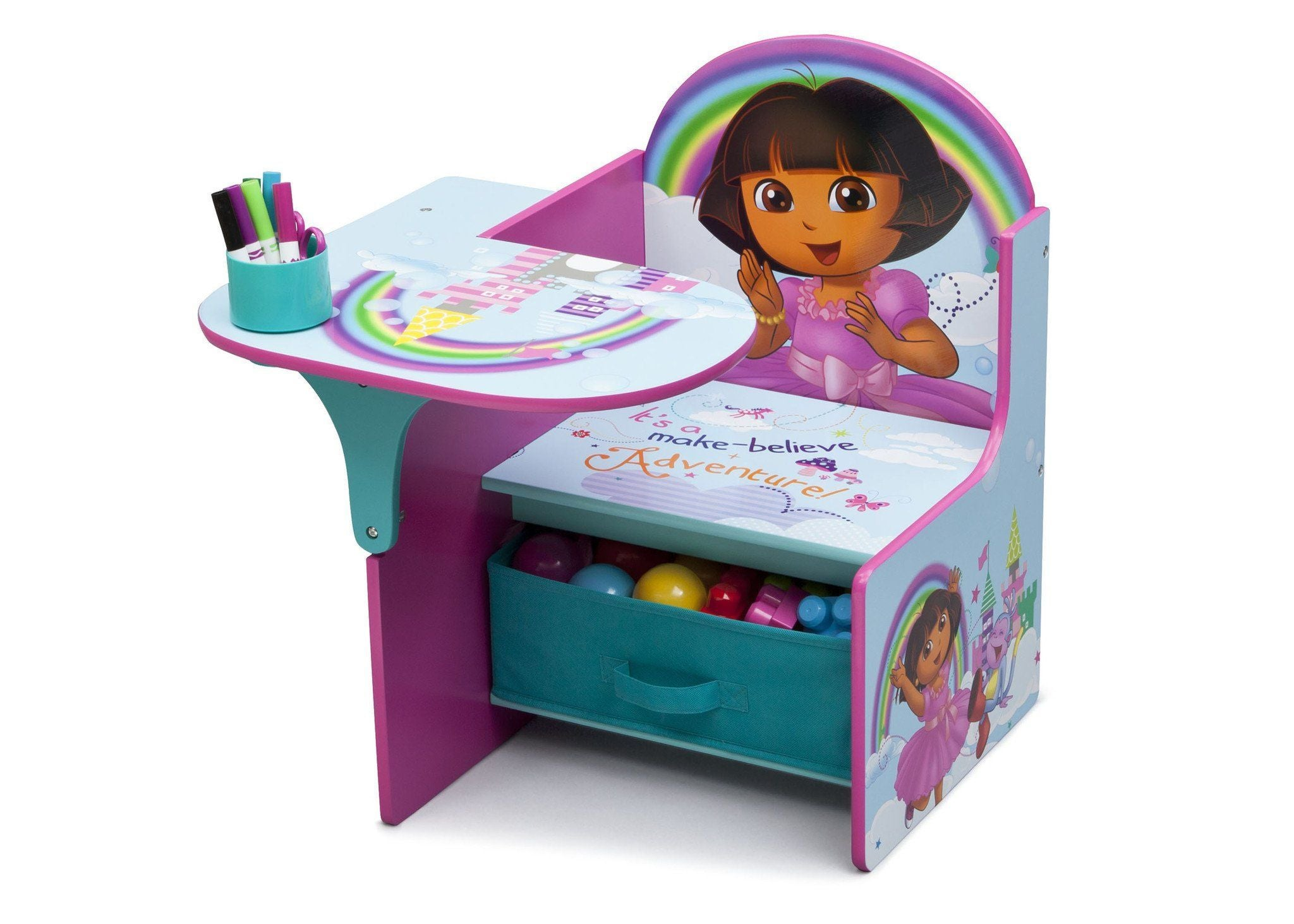 ... Delta Children Dora the Explorer Chair Desk with Storage Bin with Props a2a  sc 1 st  Delta Children & Dora the Explorer Chair Desk with Storage Bin | Delta Children