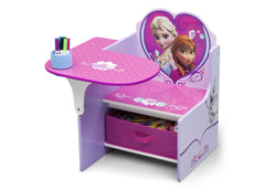 Delta Children Frozen Chair Desk with Storage Bin, Left View with Props a2a