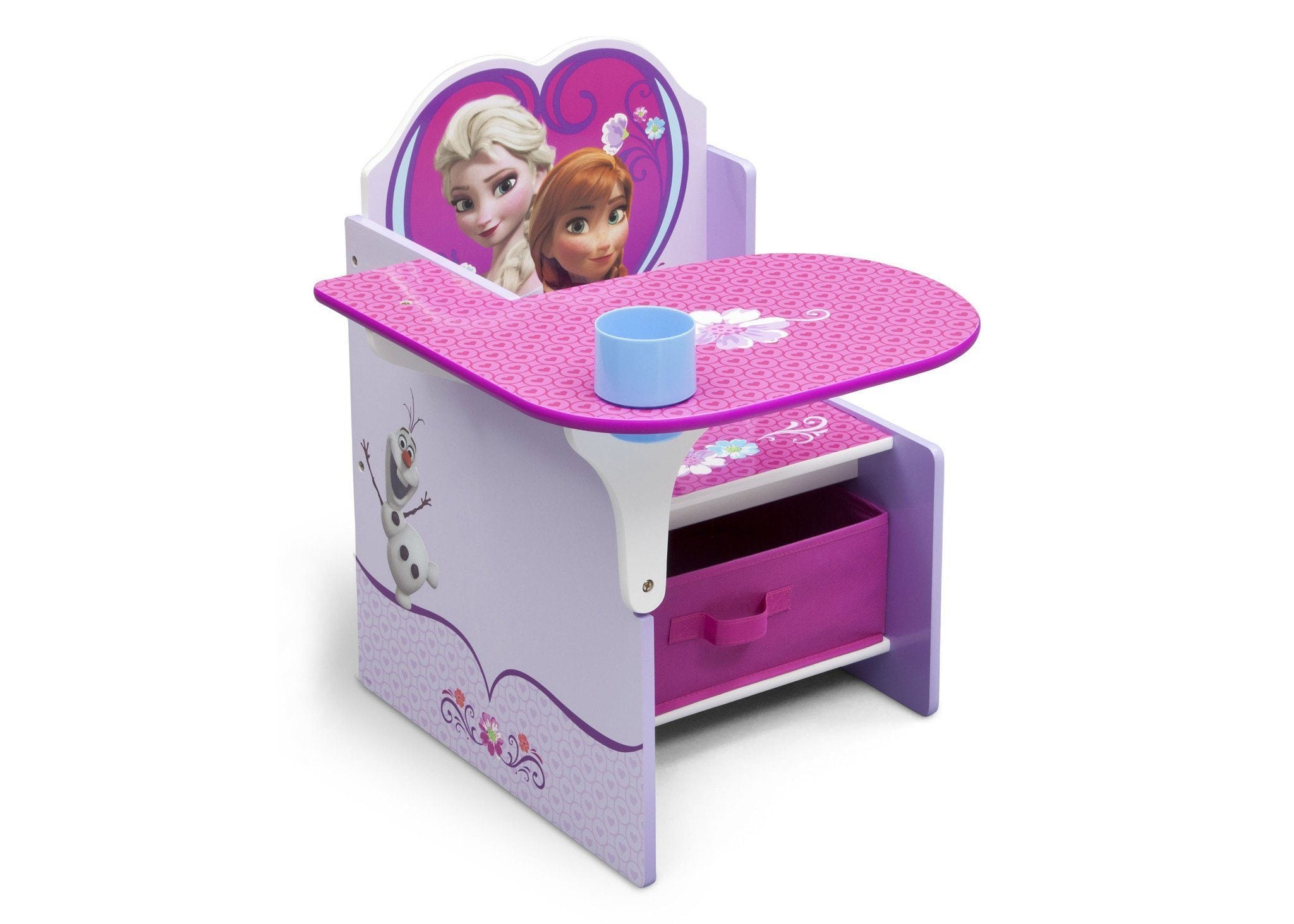 Delta Children Frozen Chair Desk with Storage Bin, Right View a1a Frozen (1089)