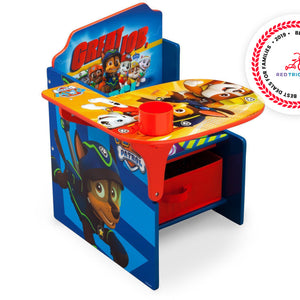 Delta Children PAW Patrol Chair Desk with Storage Bin, Right View a1a Paw Patrol (1121)