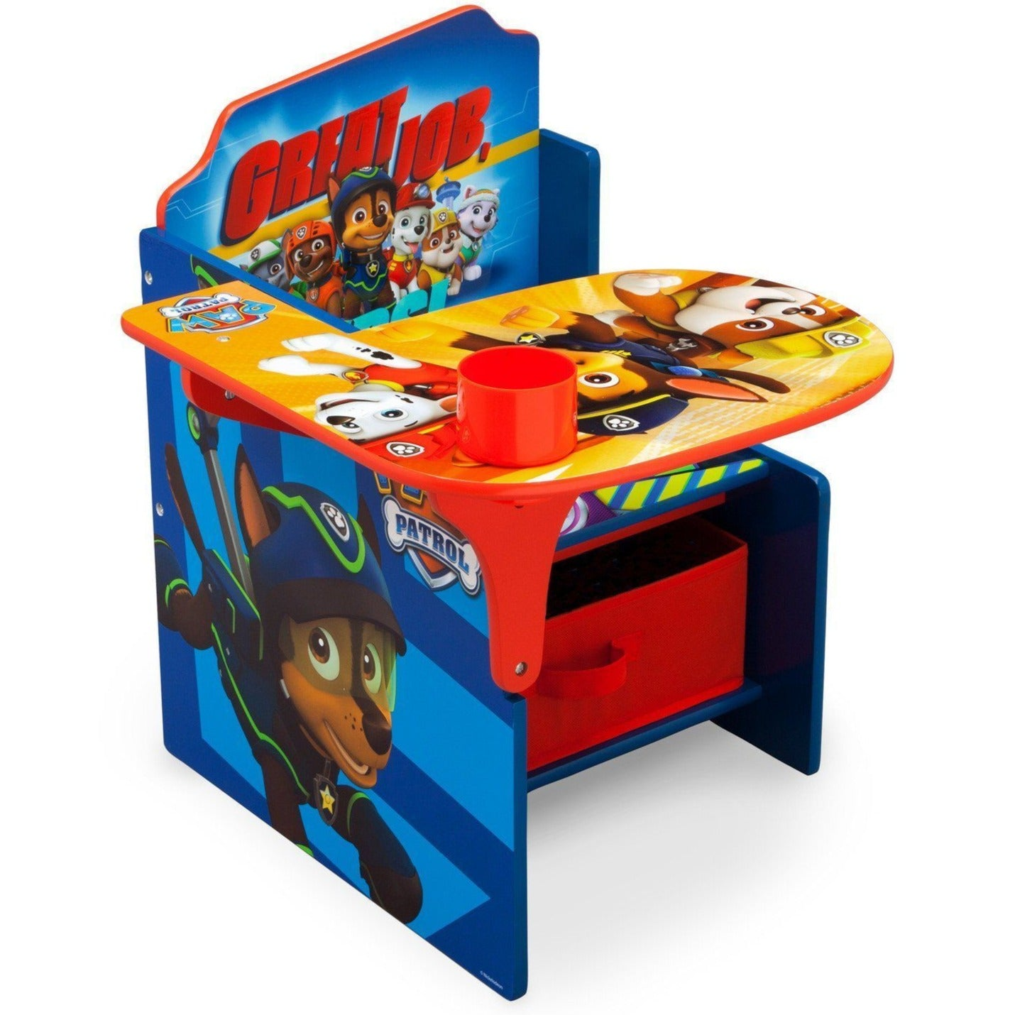 Delta Children PAW Patrol Chair Desk With Storage Bin, Right View A1a ...