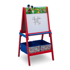 Disney Mickey Mouse Wooden Double Sided Easel with Storage by Delta Children, Dry Erase Right Silo View