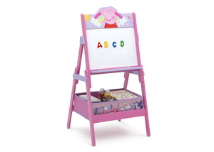 Delta Children Peppa Pig (1171) Wooden Activity Easel with Storage, Right Silo View