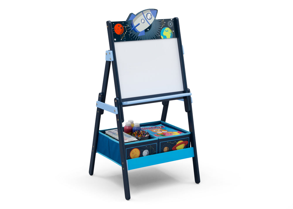 Delta Children Space Adventures (1223) Wooden Activity Easel with Storage, Right Silo View