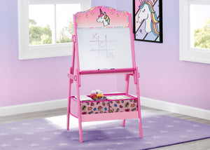 Delta Children Rainbow Dreams (1221) Wooden Activity Easel with Storage, Hangtag View
