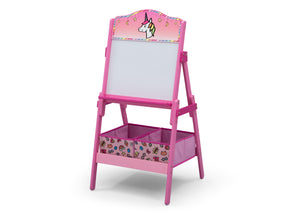 Delta Children Rainbow Dreams (1221) Wooden Activity Easel with Storage, Left Silo View