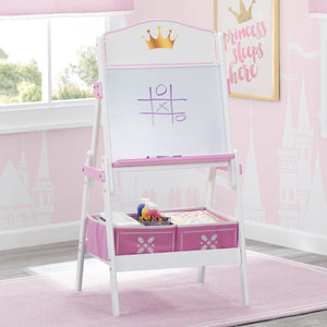 Delta Children Love Girl (1187) Princess Crown Wooden Activity Easel with Storage, Hangtag View