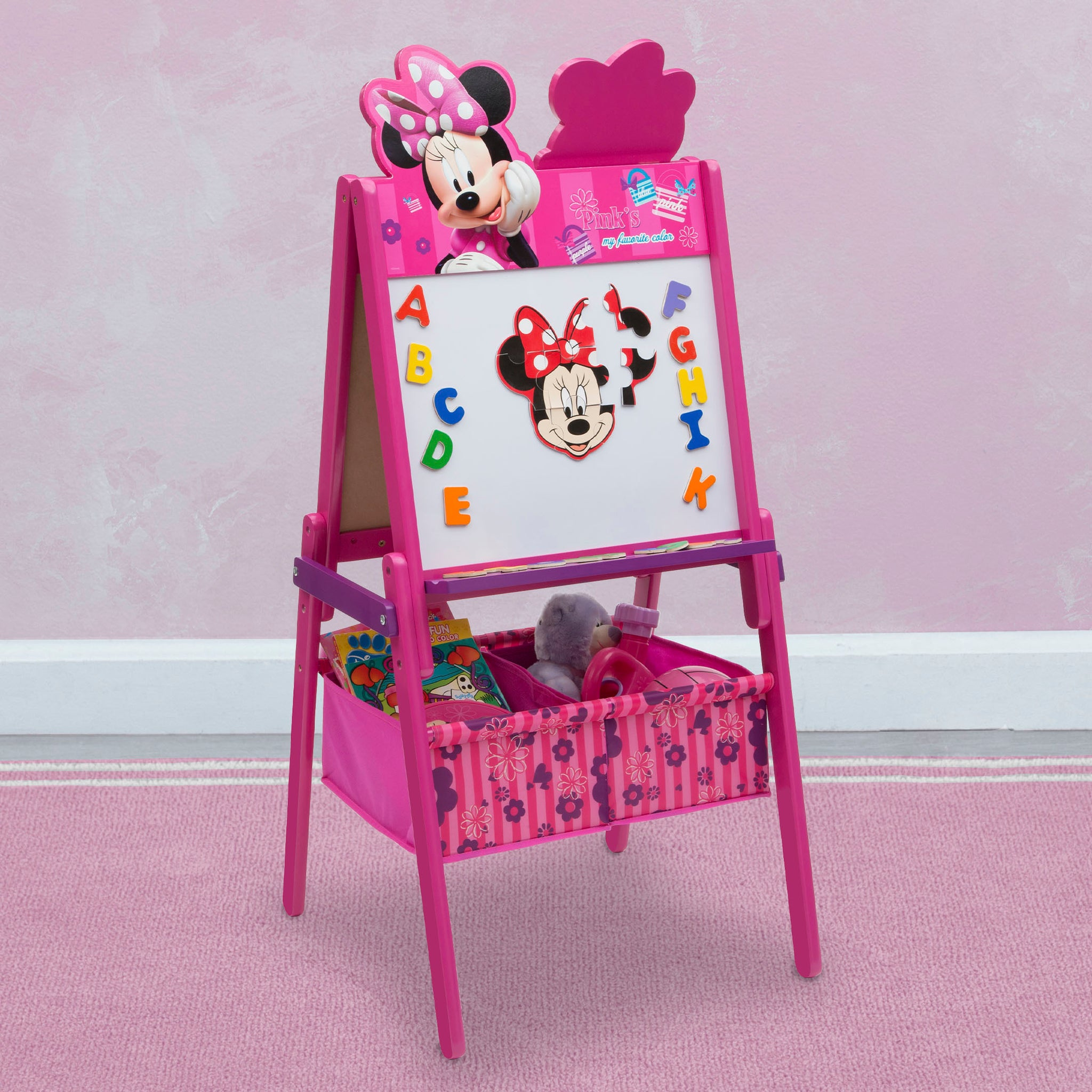 Minnie Mouse Wooden Double Sided Activity Easel