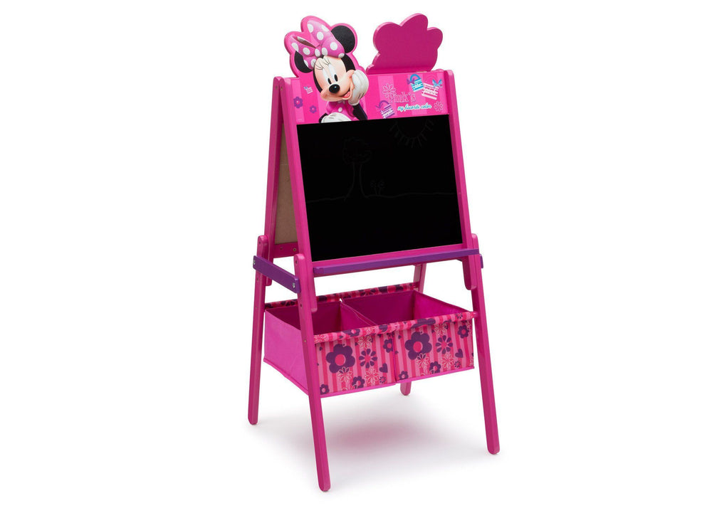 Delta Children Minnie Mouse Activity Easel with Storage, Chalkboard Surface View a1a