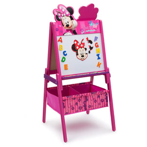 Delta Children Minnie Mouse Activity Easel with Storage, Dry-Erase Surface View a2a