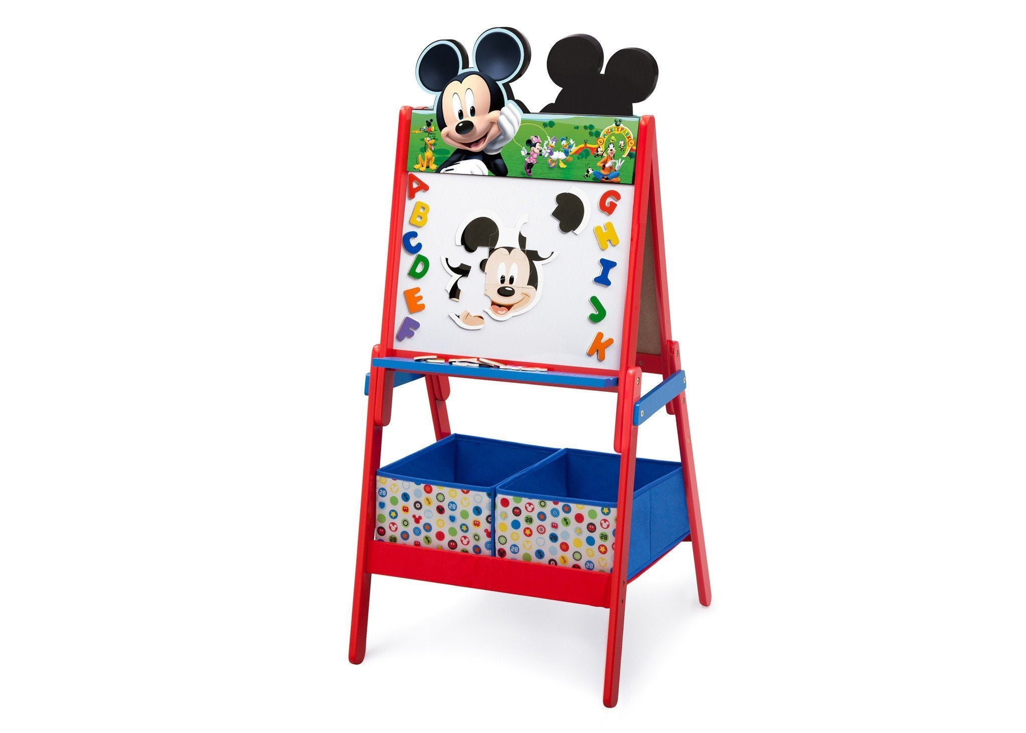 Delta Children Mickey Mouse Activity Easel with Storage, Dry-Erase Surface View a2a Style 1 (1051)