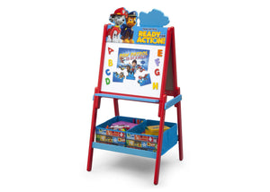 Delta Children Paw Patrol Wooden Double Sided Activity Easel with Storage, Left View a2a