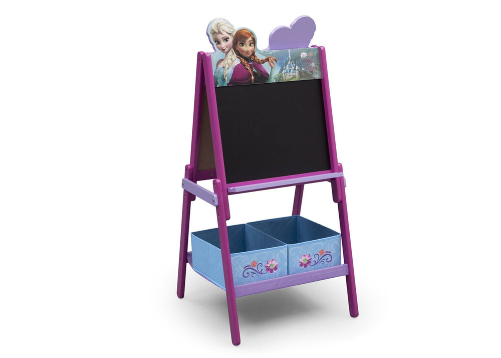 Delta Children Frozen Wooden Double Sided Activity Easel with Storage, Right View a1a