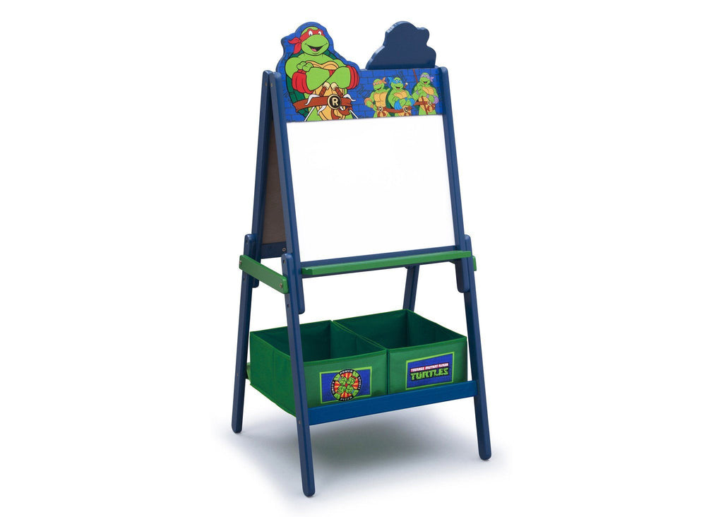 Delta Children Teenage Mutant Ninja Turtle Wooden Double Sided Activity Easel with Storage, Right view, Magnetic Dry-Erase Side a1a