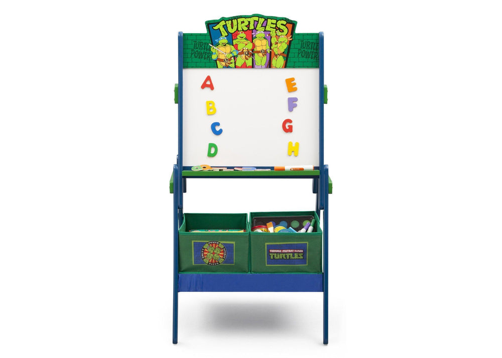 Delta Children Style 1Teenage Mutant Ninja Turtles Activity Easel, Front View with Props a2a