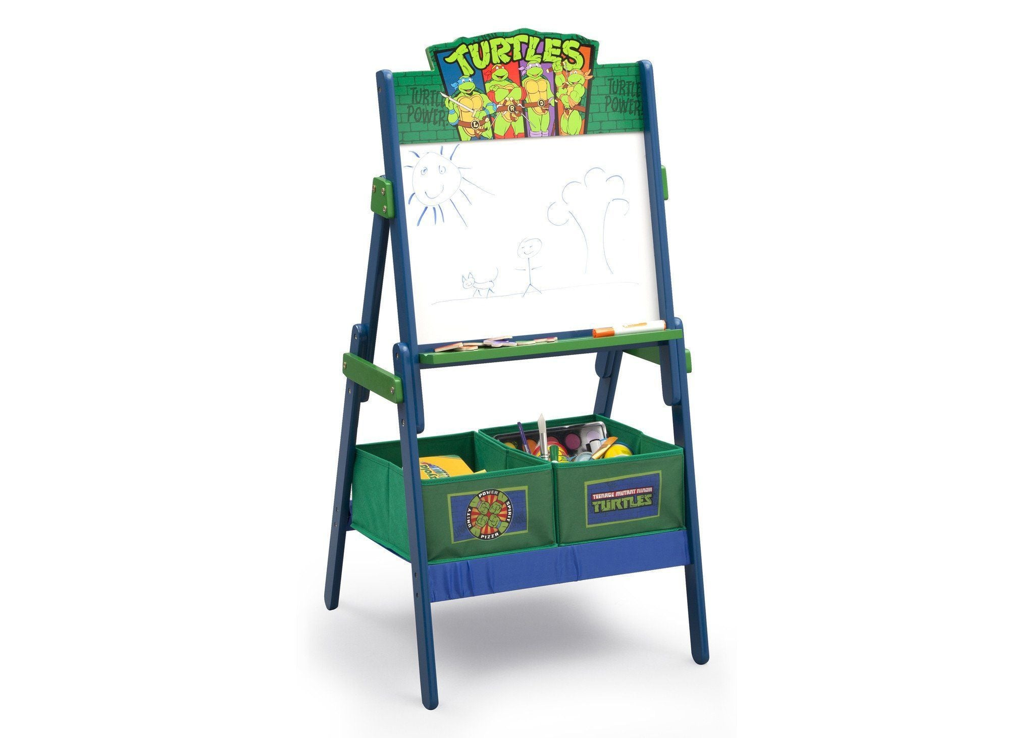 Delta Children Teenage Mutant Ninja Turtles Activity Easel, Right View a1a