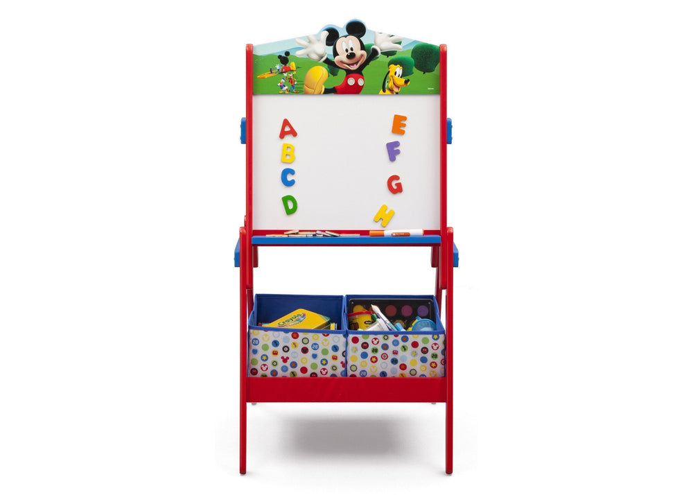 Delta Children Mickey Mouse Activity Easel, Front View with Props