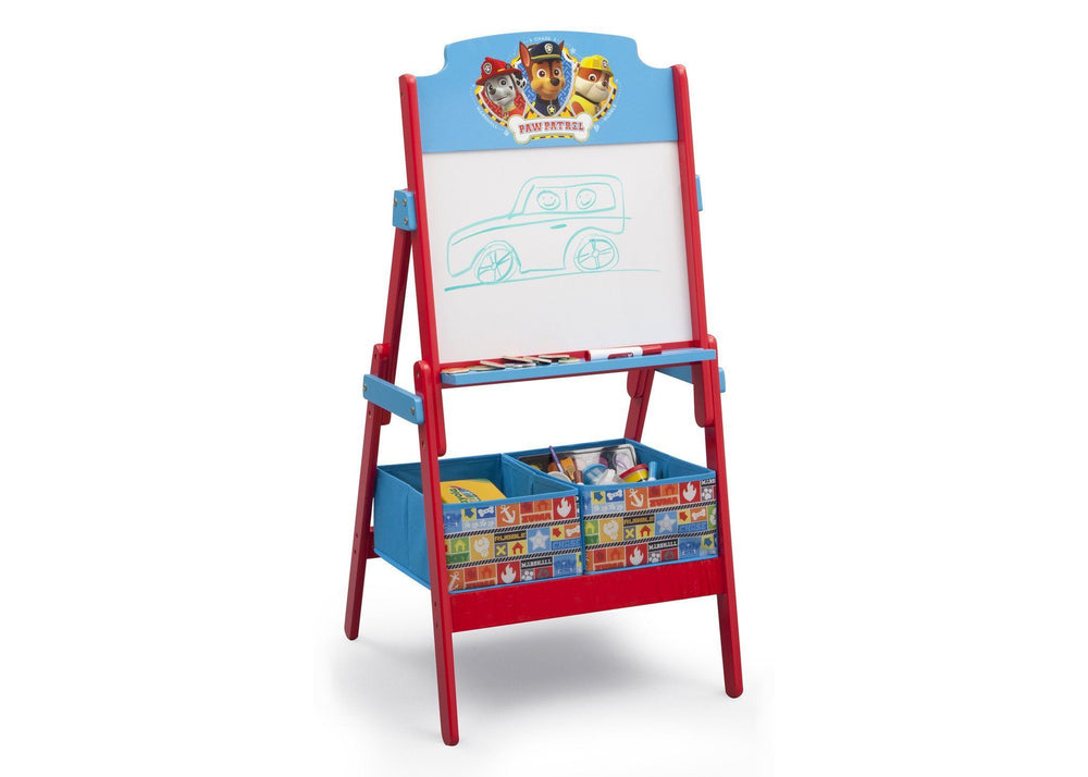 Delta Children PAW Patrol Activity Easel, Right View with Props