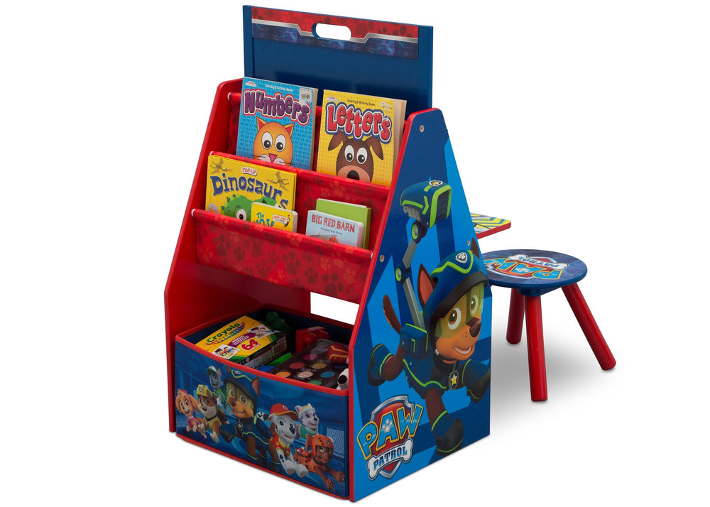 Delta Children PAW Patrol Activity Center - Easel Desk with Stool & Toy Organizer Left View Toy Organizer a2a