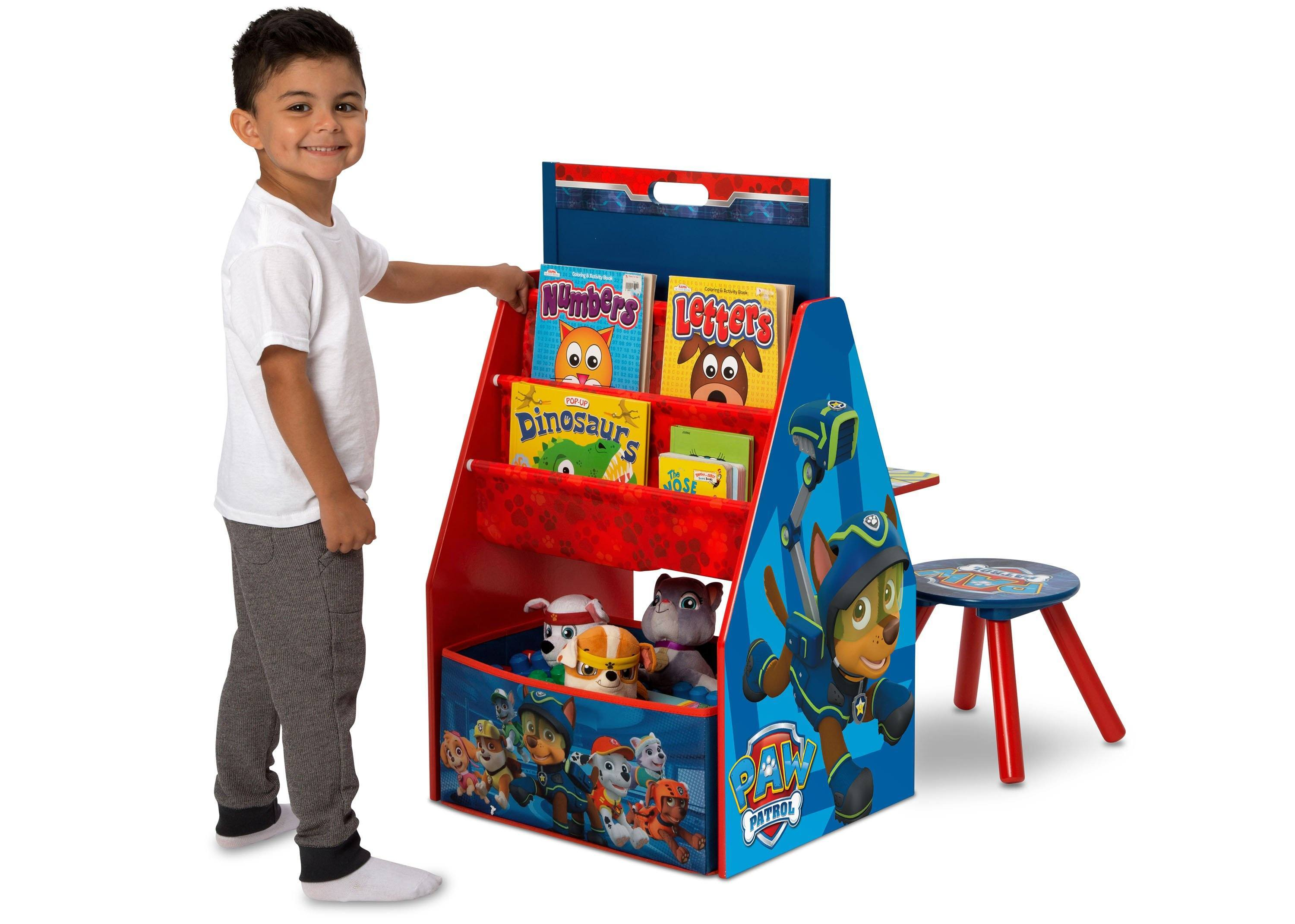 Paw Patrol Kids Toy Organizer Bin Children S Storage Box: Easel Desk With Stool & Toy