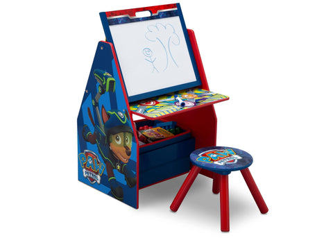 PAW Patrol Activity Center - Easel Desk with Stool & Toy Organizer