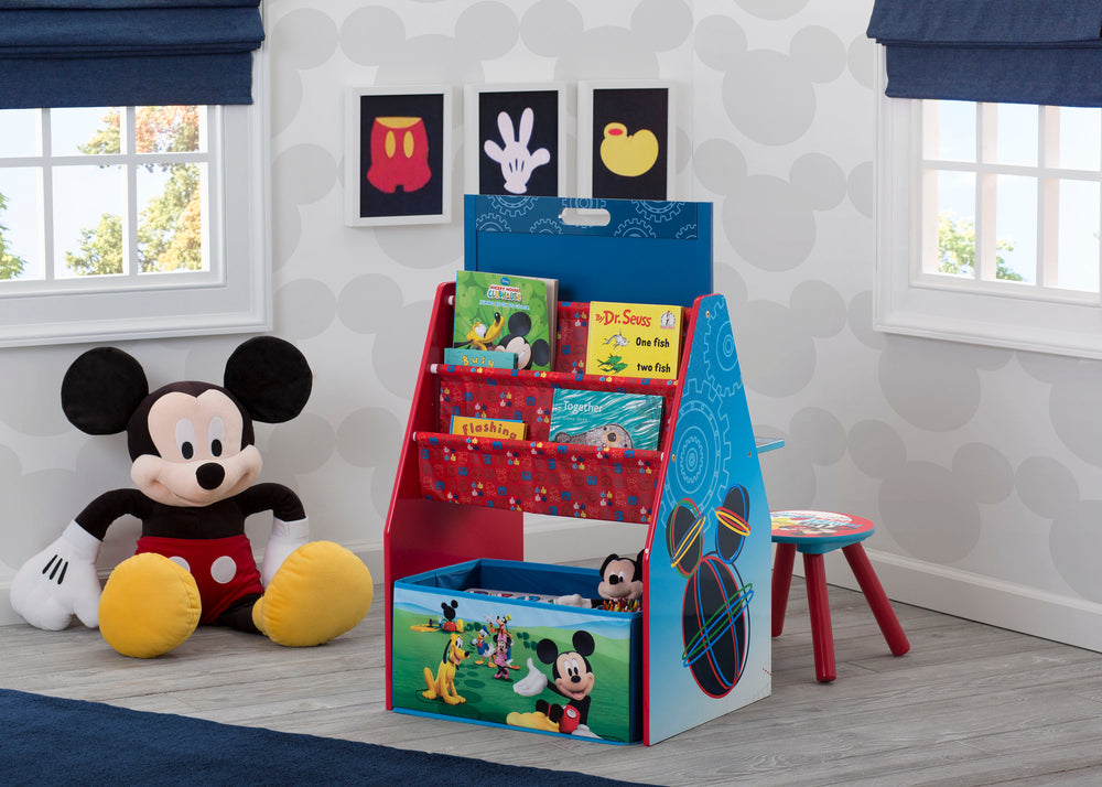 Mickey Mouse Activity Center - Easel Desk with Stool & Toy Organizer