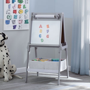 Delta Children Grey (026) MySize Double-Sided Storage Easel, Room, a1a