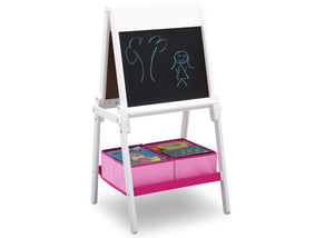 Delta Children Bianca (130) MySize Double-Sided Storage Easel, Right Angle Chalk, b4b