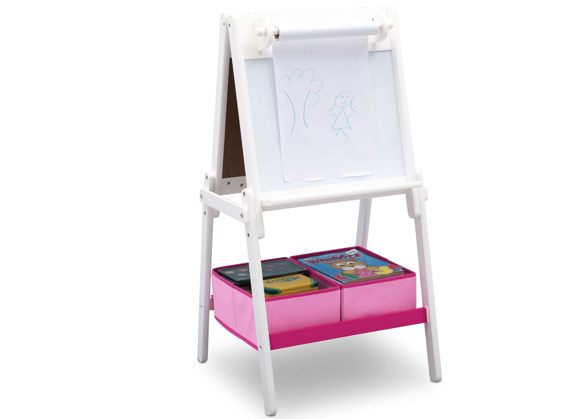 Delta Children Bianca 130 MySize Double-Sided Storage Easel, right, b1b Bianca (130)