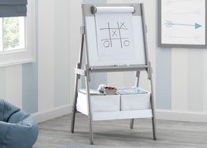 Delta Children Grey (026) Classic Kids Whiteboard/Dry Erase Easel with Paper Roll and Storage Hangtag View