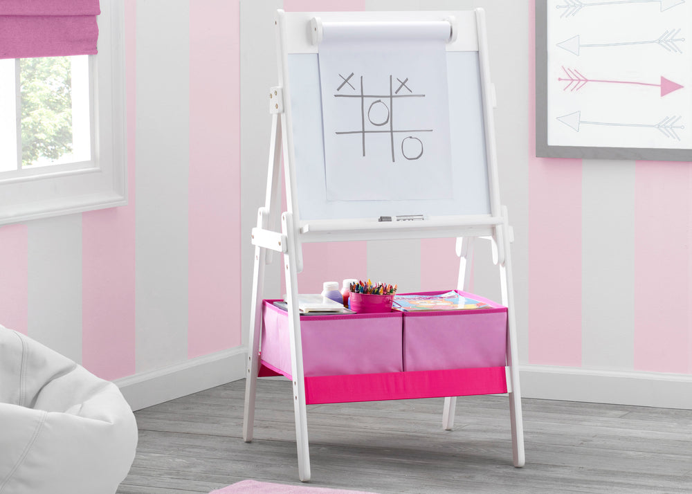 Delta Children Bianca (130) Classic Kids Whiteboard/Dry Erase Easel with Paper Roll and Storage Hangtag View