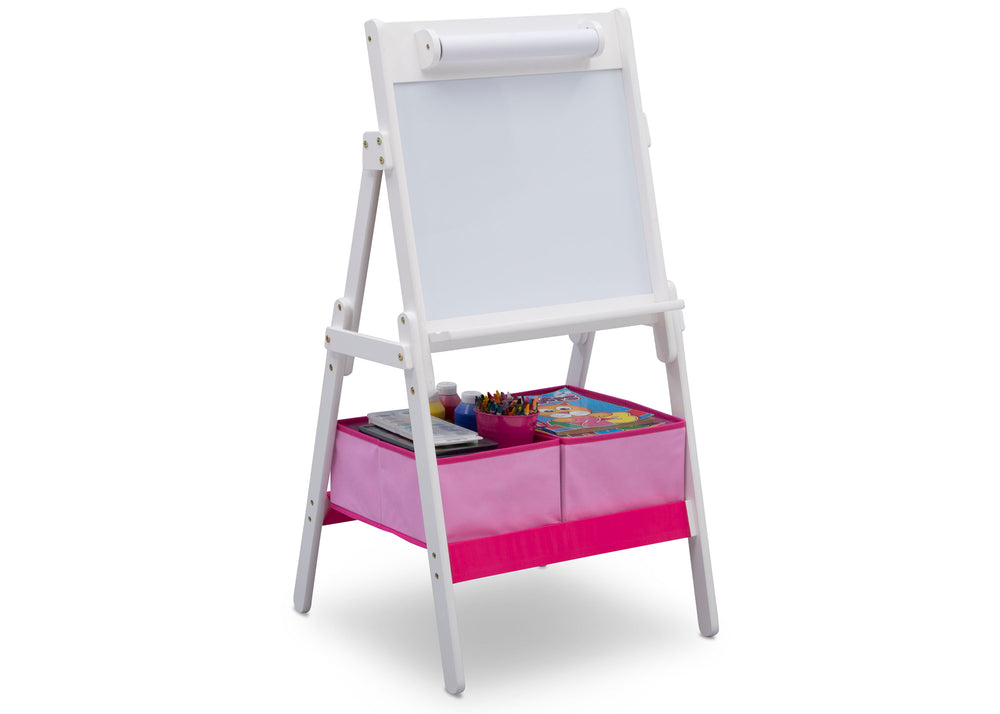 Delta Children Bianca (130) Classic Kids Whiteboard/Dry Erase Easel with Paper Roll and Storage Right Silo View