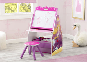 Princess Activity Center - Easel Desk with Stool & Toy Organizer