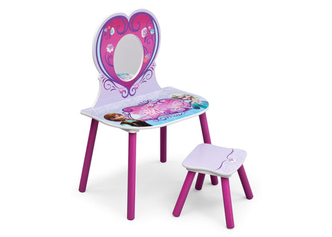 Frozen Vanity & Stool Set