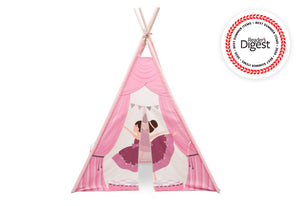Delta Children Ballerina (999) Teepee Play Tent for Kids, Front Silo View