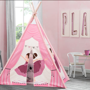 Delta Children Ballerina (999) Teepee Play Tent for Kids, Hangtag View