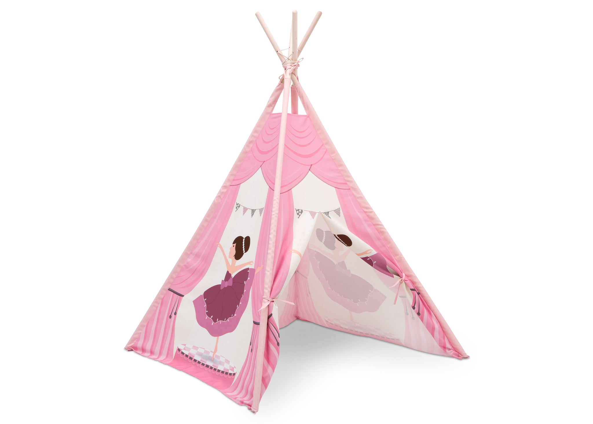 Delta Children Ballerina (999) Teepee Play Tent for Kids, Right Silo View