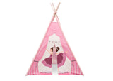 Delta Children Ballerina Teepee Play Tent for Kids, Front Silo View