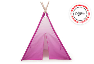 Delta Children Pink Ombre (999) Teepee Play Tent for Kids, Front Silo View
