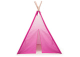Delta Children Pink Ombre Teepee Play Tent for Kids, Front Silo View