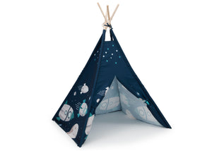 Delta Children Outer Space Adventures (999) Teepee Play Tent for Kids, Right Silo View