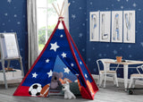 Delta Children All-Star Sports Teepee Play Tent for Kids, Hangtag View